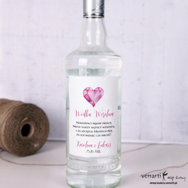 Etykiety na alkohol Diamentowe serce EP013