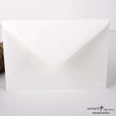 Gładkie koperty C6 złamana biel