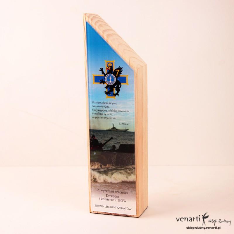 Podziękowanie statuetka drewno PODZSD001