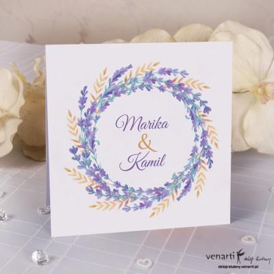 Zaproszenia ślubne Lawenda K042