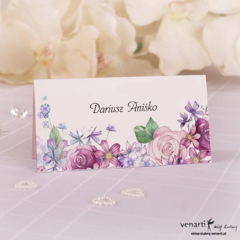 Kwiaty rustikal Winietki ślubne W067