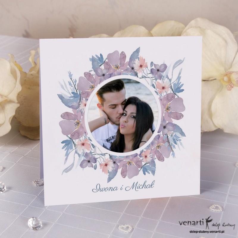 Zaproszenia ślubne Kwiatowe Ze Zdjęciem K043 1430 Sklep ślubny