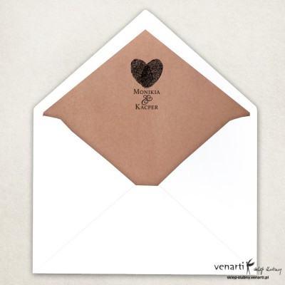 Wyklejki do kopert - Odciski - papier eco