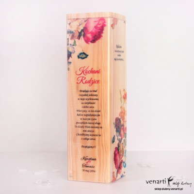 Drewniana ślubna statueka z pleksą