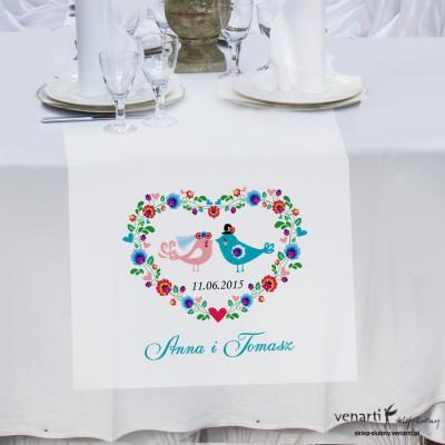 Bieżnik na stół Ludowe ptaszki