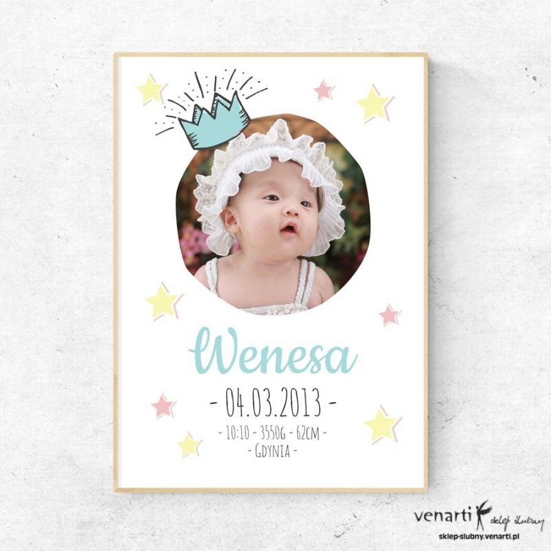 Księżniczka plakat ze zdjęciem metryczka