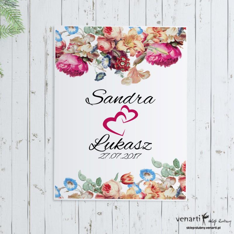 Plakat ślubny Eko kwiaty