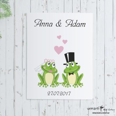 Plakat ślubny Żaby
