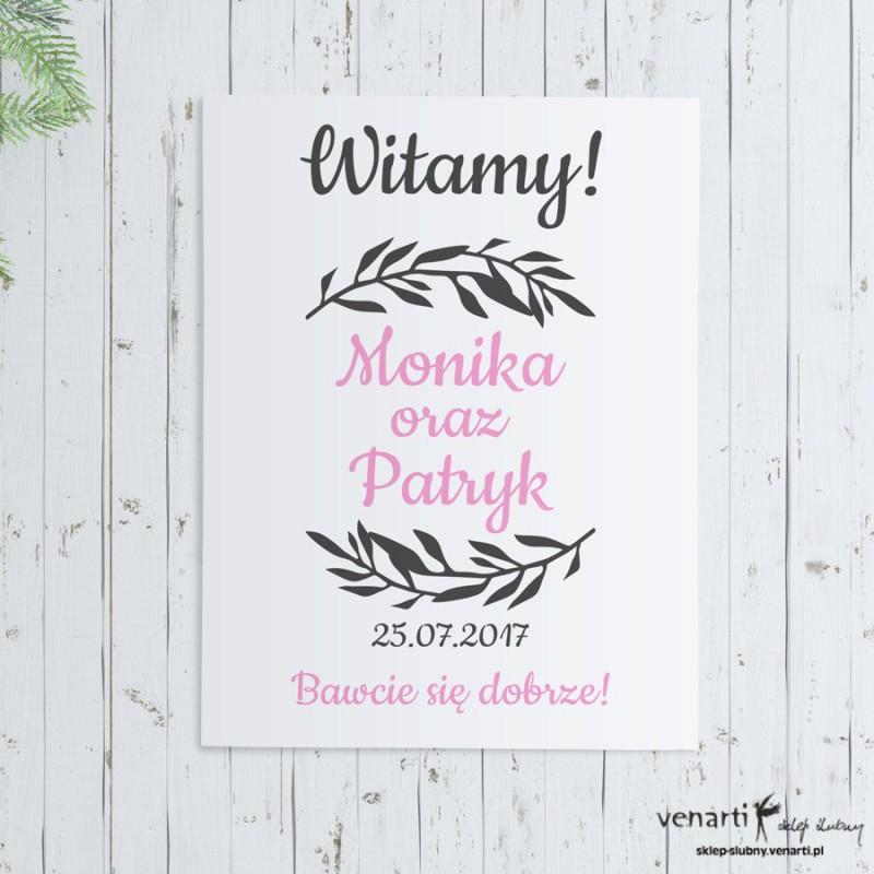 Plakat ślubny Wianek