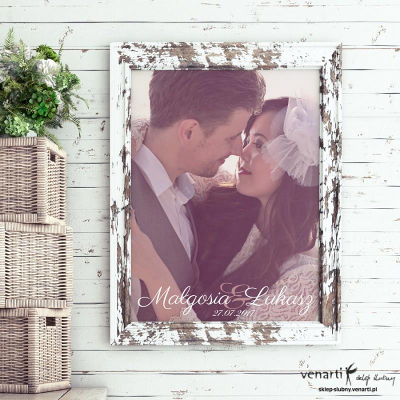 Plakat ślubny z Waszym zdjęciem