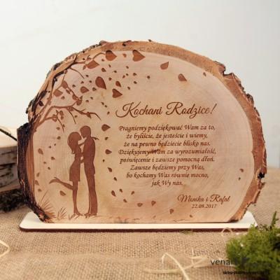 Podziękowania dla Rodziców Ślubna statuetka Plaster brzozy