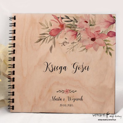 Ślubny album, księga gości Magnolie