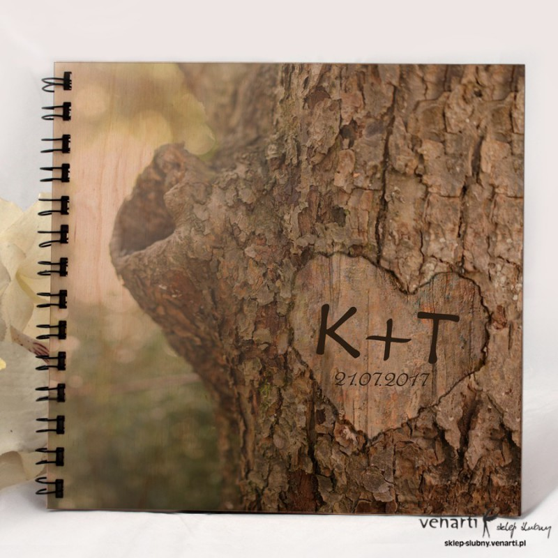 Ślubny album, księga gości Kora drzewa