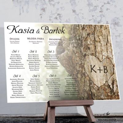 Plan stołu plakat Kora z drzewa