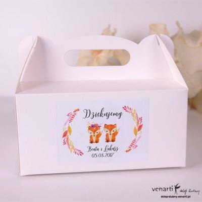 Lisy Pudełka na ciasto weselne