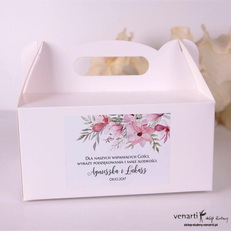 Magnolie Pudełka na ciasto weselne