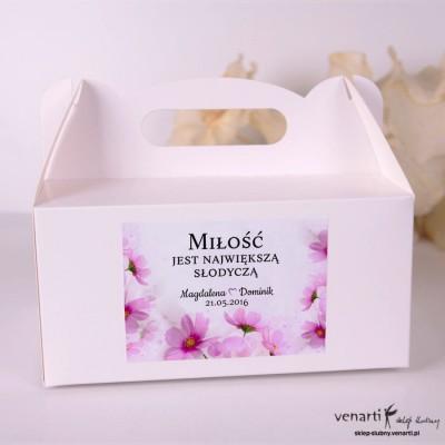 Kwiaty Pudełka na ciasto weselne