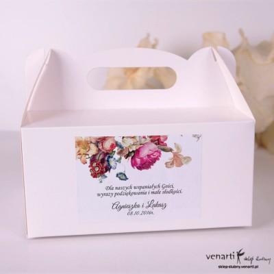 Eko kwiaty Pudełka na ciasto weselne