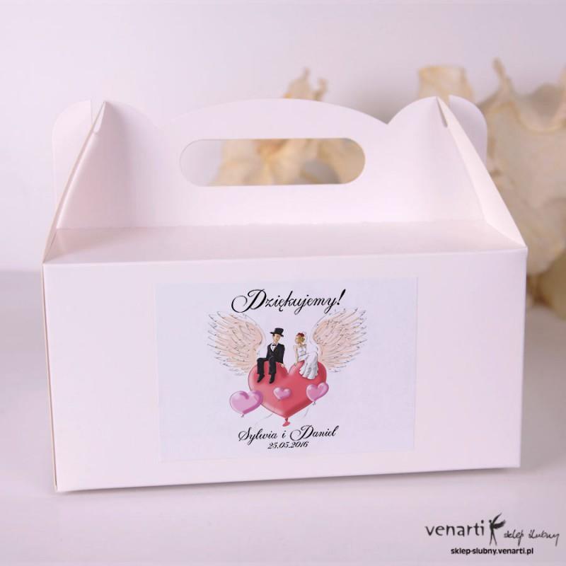 Para na sercu Pudełka na ciasto weselne