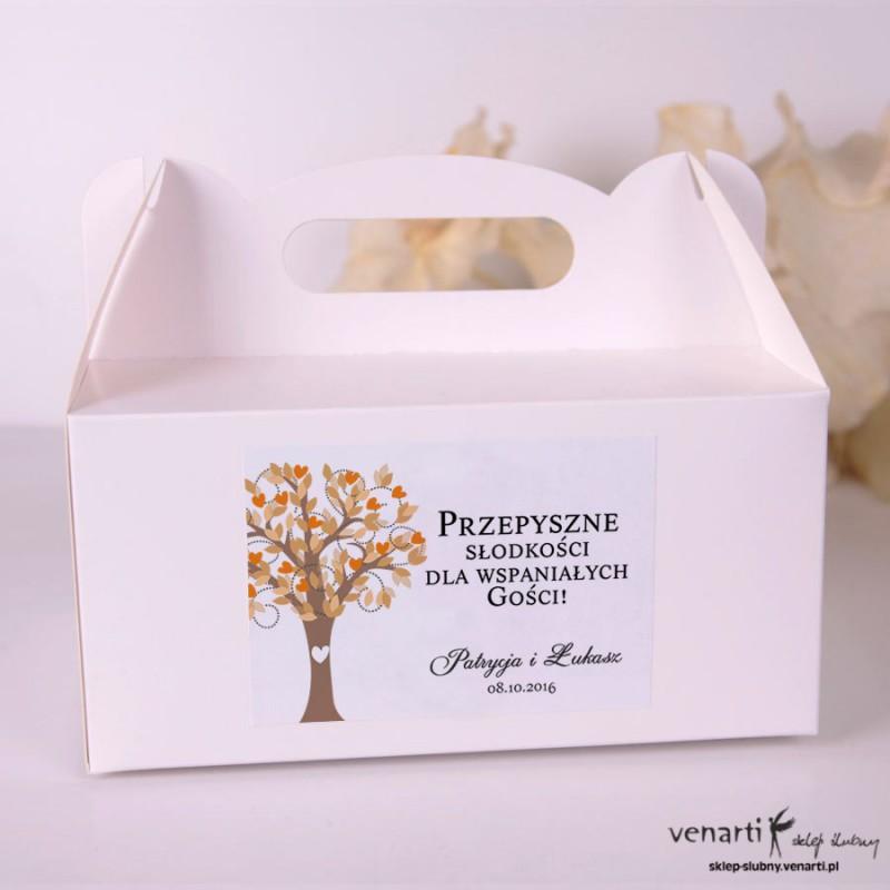 Drzewo Pudełka na ciasto weselne