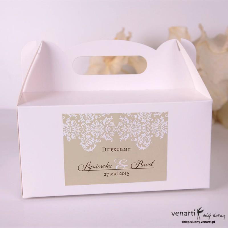 Wzorek rustykalny Pudełka na ciasto weselne