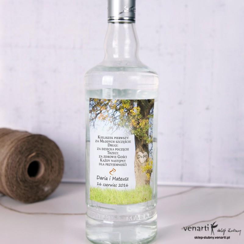 Drzewo Etykiety na alkohol