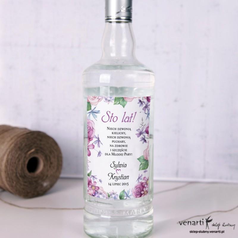 Rustykalne kwiaty Etykiety na alkohol