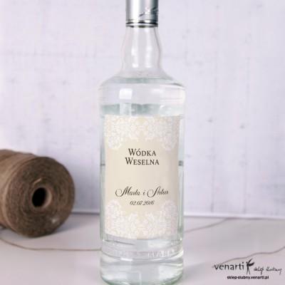 Ciemna koronka Etykiety na alkohol
