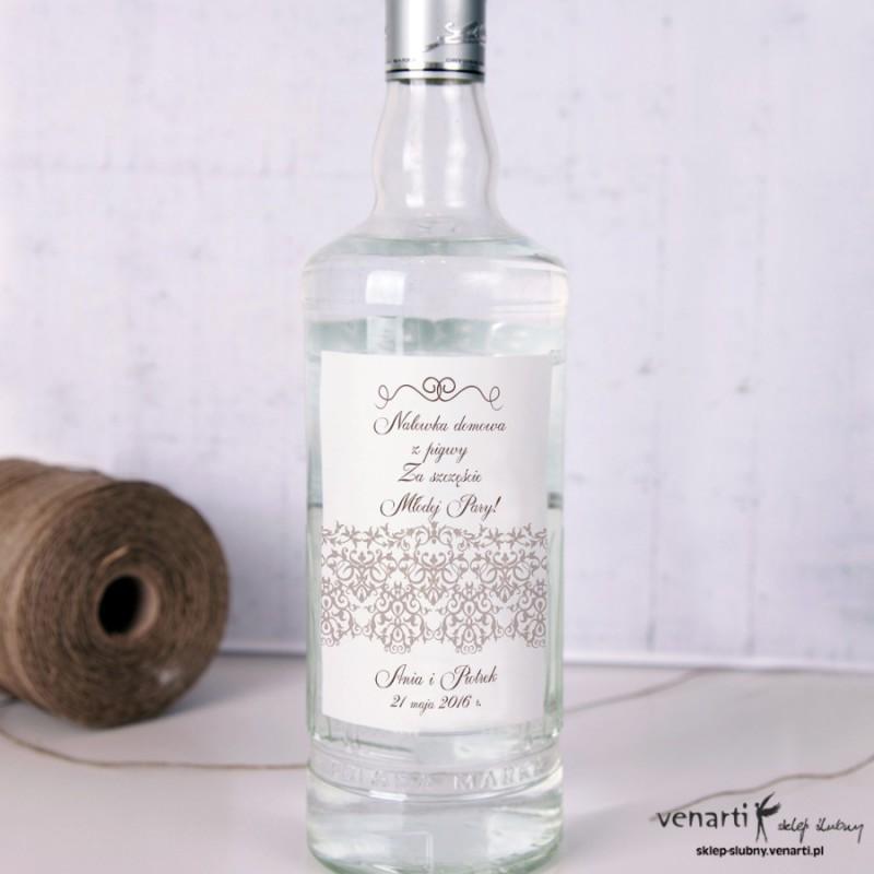 Koronka Etykiety na alkohol