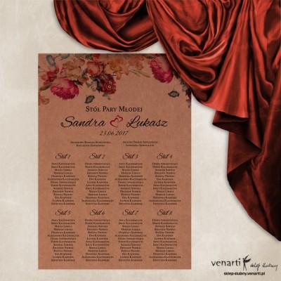 Kwiaty Plan stołu plakat Papier eko