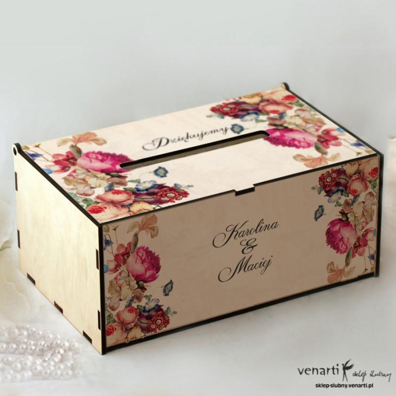 Eko kwiaty Pudełko na koperty, telegramy