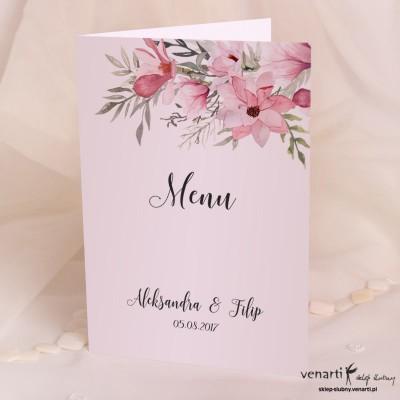 Magnolie Menu ślubne