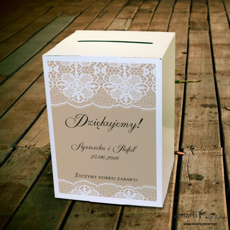 Koronka Pudełko na koperty