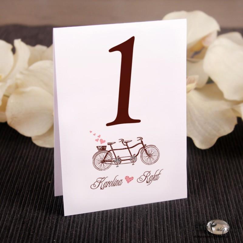 Numerki na stół Stary rower