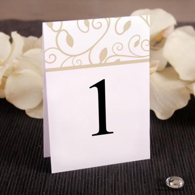 Ślubne numerki na stół Wzorek
