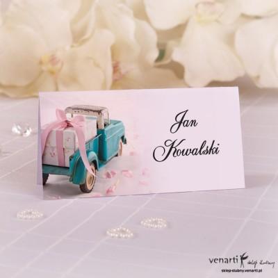 Winietki ślubne Samochód z prezentem