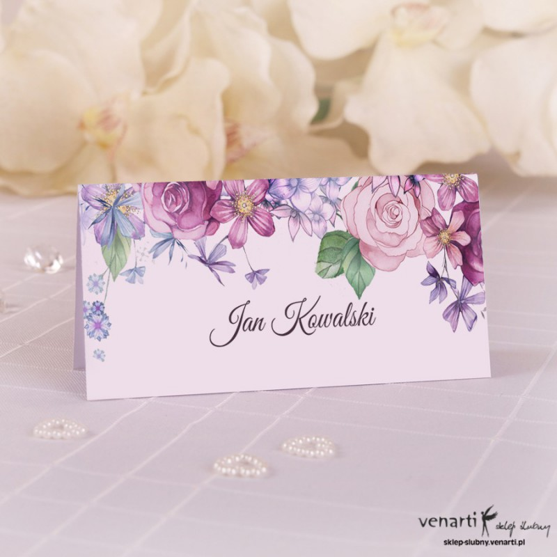 Winietki ślubne Rustykalne kwiaty