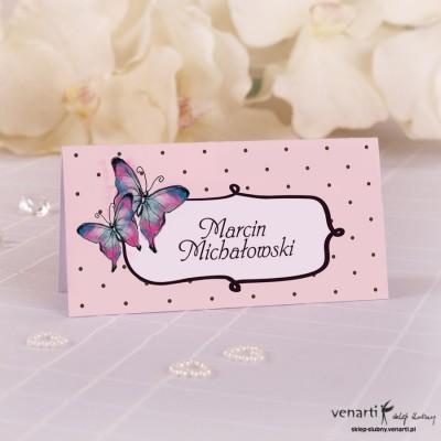 Winietki ślubne Motyle
