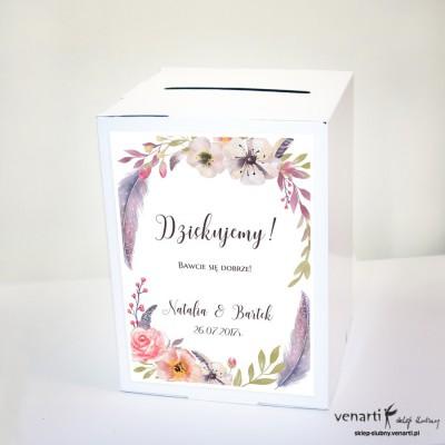 Boho kwiaty Pudełko na koperty