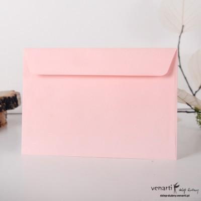 Gładkie koperty C6 różowa