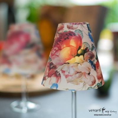 Lampiony na kieliszki kwiatowy
