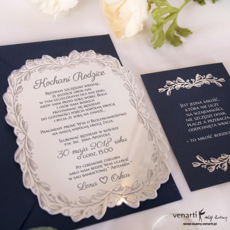 Zaproszenia ślubne Lustrzane Dla Rodziców 1810 Sklep ślubny Venarti