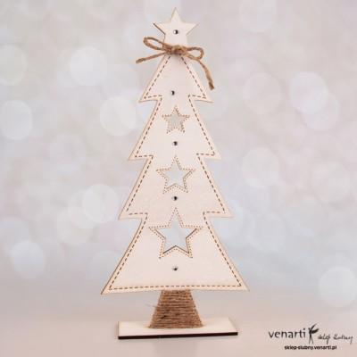 Biała choinka świąteczna