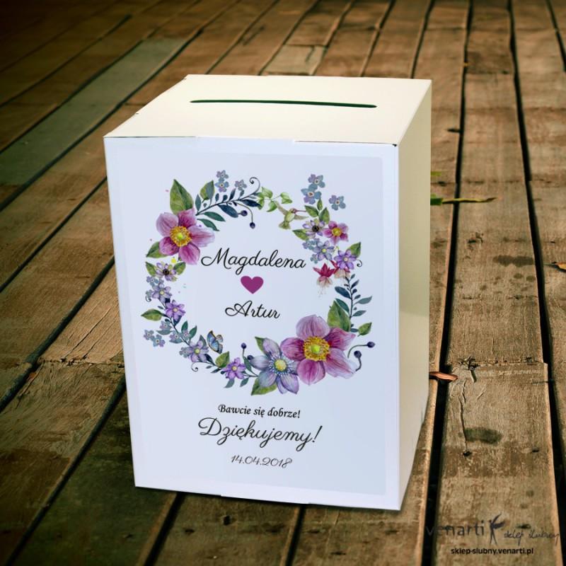 Kwiatowy wianek Pudełko na koperty