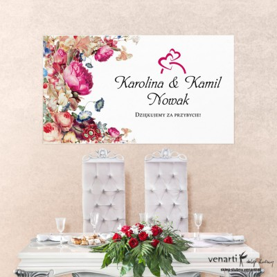 Baner ślubny Eko kwiaty