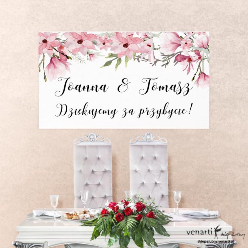 Baner ślubny Magnolie