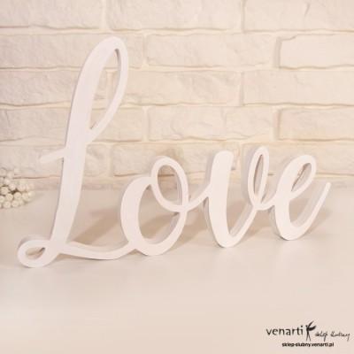 Napis stojący LOVE