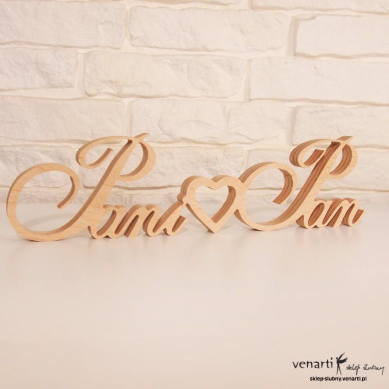 Drewniany napis Pani Pan