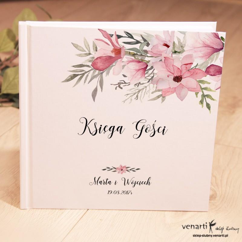 Ślubny, biały album, księga gości Magnolie