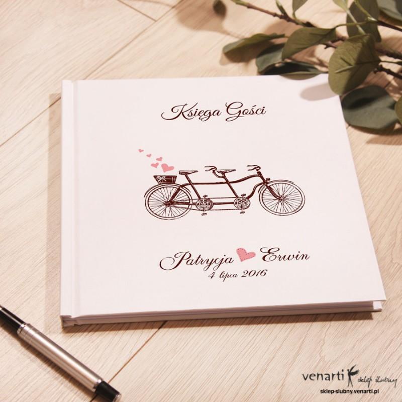 Ślubny, biały album, księga gości Rower